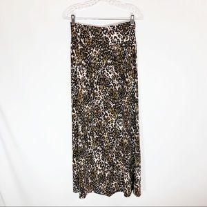 AGB Maxi Skirt in Leopard Print